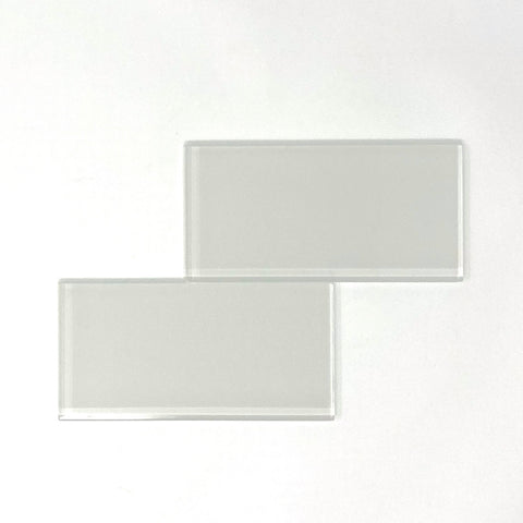 3 X 6 White Glass Subway Tile - Rainbow Series