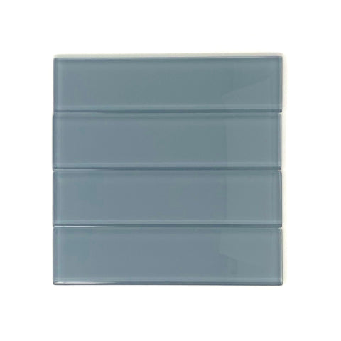 2 X 8 Ocean Blue Glass Subway Tile - Rainbow Series