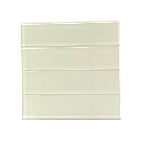 2 X 8 Cream Beige Glass Subway Tile - Rainbow Series