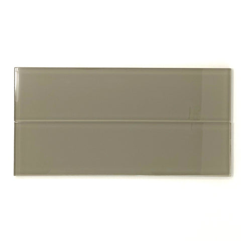 3 X 12 Taupe Glass Subway Tile - Rainbow Series