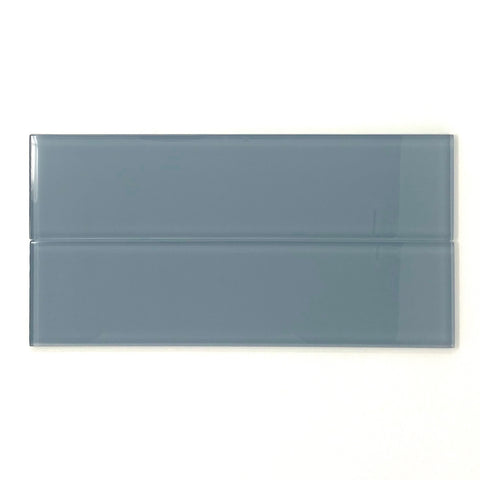 3 X 12 Ocean Blue Glass Subway Tile - Rainbow Series