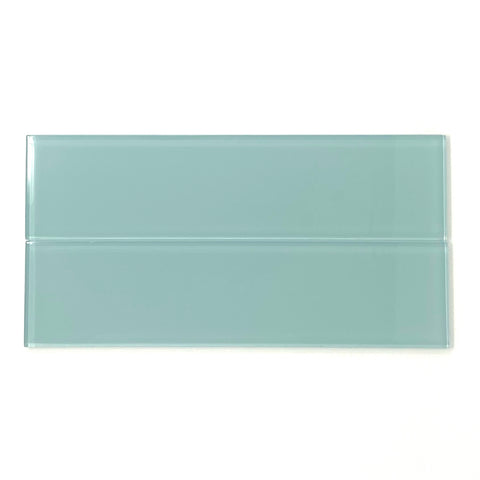 Deep Lagoon Green Glass Subway Tile - Rainbow Series