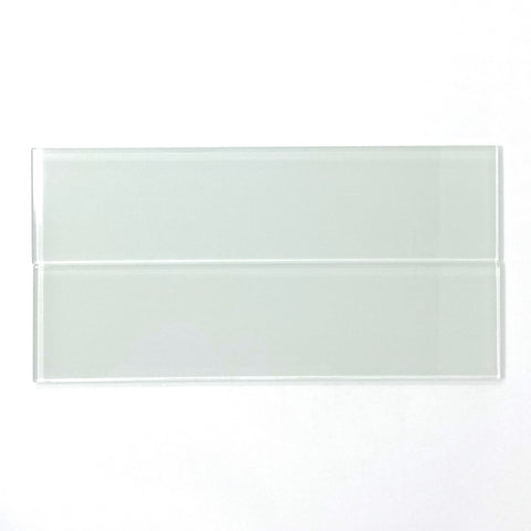 3 X 12 White Glass Subway Tile - Rainbow Series
