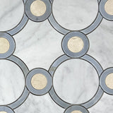 Waterjet Round Marble Polished Mosaic Tile