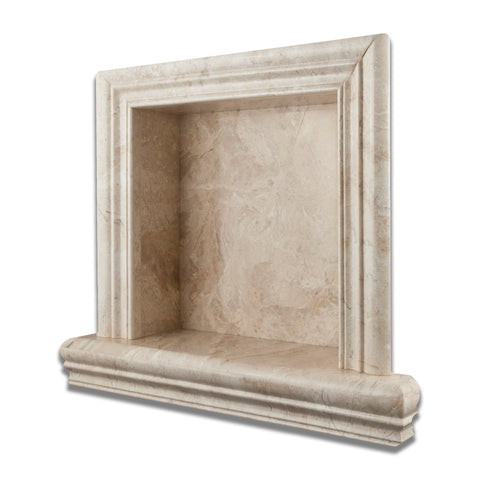Diano Royal Marble Hand-Made Custom Shampoo Niche / Shelf - SMALL - Polished