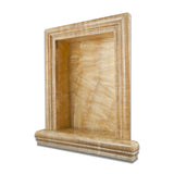Honey Onyx Hand-Made Custom Shampoo Niche / Shelf - LARGE - Polished - American Tile Depot - Commercial and Residential (Interior & Exterior), Indoor, Outdoor, Shower, Backsplash, Bathroom, Kitchen, Deck & Patio, Decorative, Floor, Wall, Ceiling, Powder Room - 1