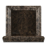 Emperador Dark Marble Hand-Made Custom Shampoo Niche / Shelf - SMALL - Polished - American Tile Depot - Commercial and Residential (Interior & Exterior), Indoor, Outdoor, Shower, Backsplash, Bathroom, Kitchen, Deck & Patio, Decorative, Floor, Wall, Ceiling, Powder Room - 2