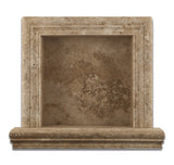 Walnut Travertine Hand-Made Custom Shampoo Niche / Shelf - SMALL - Honed - American Tile Depot - Commercial and Residential (Interior & Exterior), Indoor, Outdoor, Shower, Backsplash, Bathroom, Kitchen, Deck & Patio, Decorative, Floor, Wall, Ceiling, Powder Room - 2
