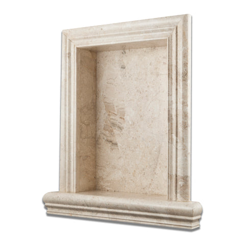 Diano Royal Marble Hand-Made Custom Shampoo Niche / Shelf - LARGE - Polished