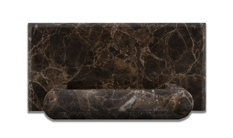 Emperador Dark Marble Hand-Made Custom Soap Holder - Soap Dish - Polished - American Tile Depot - Commercial and Residential (Interior & Exterior), Indoor, Outdoor, Shower, Backsplash, Bathroom, Kitchen, Deck & Patio, Decorative, Floor, Wall, Ceiling, Powder Room - 1