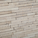 Ivory Travertine Tumbled Random Strip Mosaic Tile - American Tile Depot - Commercial and Residential (Interior & Exterior), Indoor, Outdoor, Shower, Backsplash, Bathroom, Kitchen, Deck & Patio, Decorative, Floor, Wall, Ceiling, Powder Room - 3