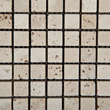 5/8 X 5/8 Ivory Travertine Tumbled Mosaic Tile - American Tile Depot - Commercial and Residential (Interior & Exterior), Indoor, Outdoor, Shower, Backsplash, Bathroom, Kitchen, Deck & Patio, Decorative, Floor, Wall, Ceiling, Powder Room - 3