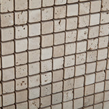 5/8 X 5/8 Ivory Travertine Tumbled Mosaic Tile - American Tile Depot - Commercial and Residential (Interior & Exterior), Indoor, Outdoor, Shower, Backsplash, Bathroom, Kitchen, Deck & Patio, Decorative, Floor, Wall, Ceiling, Powder Room - 2