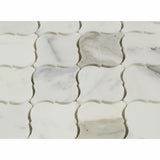 Calacatta Gold Marble Polished Lantern Arabesque Mosaic Tile - American Tile Depot - Commercial and Residential (Interior & Exterior), Indoor, Outdoor, Shower, Backsplash, Bathroom, Kitchen, Deck & Patio, Decorative, Floor, Wall, Ceiling, Powder Room - 2