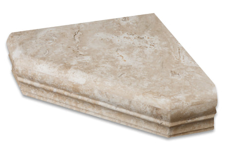 Durango Cream Travertine Hand-Made Custom Shower Corner Shelf - Honed - American Tile Depot - Commercial and Residential (Interior & Exterior), Indoor, Outdoor, Shower, Backsplash, Bathroom, Kitchen, Deck & Patio, Decorative, Floor, Wall, Ceiling, Powder Room - 1