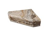 Scabos Travertine Hand-Made Custom Shower Corner Shelf - Honed - American Tile Depot - Commercial and Residential (Interior & Exterior), Indoor, Outdoor, Shower, Backsplash, Bathroom, Kitchen, Deck & Patio, Decorative, Floor, Wall, Ceiling, Powder Room - 1