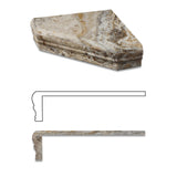 Scabos Travertine Hand-Made Custom Shower Corner Shelf - Honed - American Tile Depot - Commercial and Residential (Interior & Exterior), Indoor, Outdoor, Shower, Backsplash, Bathroom, Kitchen, Deck & Patio, Decorative, Floor, Wall, Ceiling, Powder Room - 2