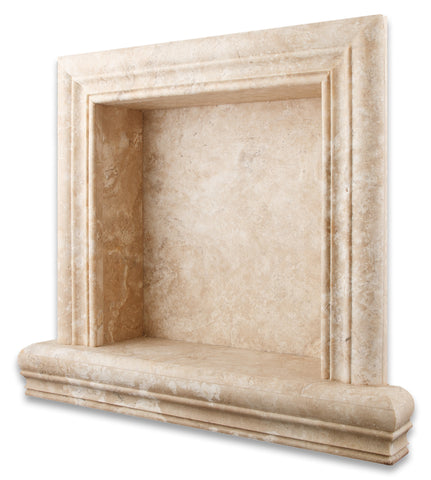 Durango Cream Travertine Hand-Made Custom Shampoo Niche / Shelf - SMALL - Honed - American Tile Depot - Commercial and Residential (Interior & Exterior), Indoor, Outdoor, Shower, Backsplash, Bathroom, Kitchen, Deck & Patio, Decorative, Floor, Wall, Ceiling, Powder Room - 1