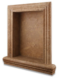 Noce Travertine Hand-Made Custom Shampoo Niche / Shelf - LARGE - Honed - American Tile Depot - Commercial and Residential (Interior & Exterior), Indoor, Outdoor, Shower, Backsplash, Bathroom, Kitchen, Deck & Patio, Decorative, Floor, Wall, Ceiling, Powder Room - 1