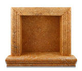 Gold / Yellow Travertine Hand-Made Custom Shampoo Niche / Shelf - SMALL - Honed - American Tile Depot - Commercial and Residential (Interior & Exterior), Indoor, Outdoor, Shower, Backsplash, Bathroom, Kitchen, Deck & Patio, Decorative, Floor, Wall, Ceiling, Powder Room - 2