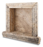 Philadelphia Travertine Hand-Made Custom Shampoo Niche / Shelf - SMALL - Honed