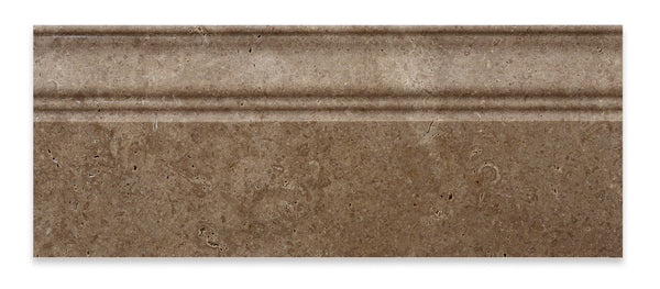 Noce Travertine 5 X 12 Baseboard Trim Molding Honed