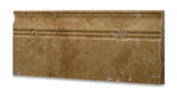 Gold / Yellow Travertine Honed 5 X 12 Baseboard Trim Molding - American Tile Depot - Commercial and Residential (Interior & Exterior), Indoor, Outdoor, Shower, Backsplash, Bathroom, Kitchen, Deck & Patio, Decorative, Floor, Wall, Ceiling, Powder Room - 3