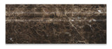 Emperador Dark Marble Polished Baseboard Trim Molding - American Tile Depot - Commercial and Residential (Interior & Exterior), Indoor, Outdoor, Shower, Backsplash, Bathroom, Kitchen, Deck & Patio, Decorative, Floor, Wall, Ceiling, Powder Room - 3