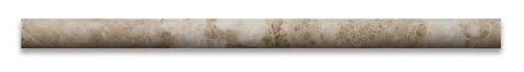Cappuccino Marble Polished 3/4 X 12 Bullnose Liner - American Tile Depot - Commercial and Residential (Interior & Exterior), Indoor, Outdoor, Shower, Backsplash, Bathroom, Kitchen, Deck & Patio, Decorative, Floor, Wall, Ceiling, Powder Room - 2