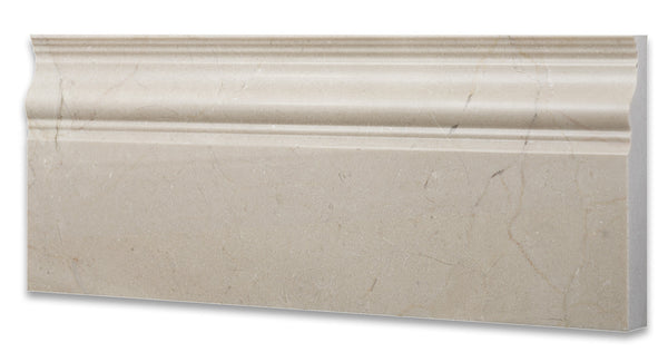 Crema Marfil Marble Baseboard Trim Molding Polished