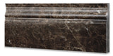 Emperador Dark Marble Polished Baseboard Trim Molding - American Tile Depot - Commercial and Residential (Interior & Exterior), Indoor, Outdoor, Shower, Backsplash, Bathroom, Kitchen, Deck & Patio, Decorative, Floor, Wall, Ceiling, Powder Room - 2