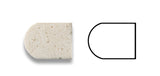 Ivory Travertine Honed 1/2 X 12 Pencil Liner - American Tile Depot - Commercial and Residential (Interior & Exterior), Indoor, Outdoor, Shower, Backsplash, Bathroom, Kitchen, Deck & Patio, Decorative, Floor, Wall, Ceiling, Powder Room - 4
