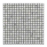 5/8 X 5/8 Carrara White Marble Polished Mosaic Tile - American Tile Depot - Commercial and Residential (Interior & Exterior), Indoor, Outdoor, Shower, Backsplash, Bathroom, Kitchen, Deck & Patio, Decorative, Floor, Wall, Ceiling, Powder Room - 1