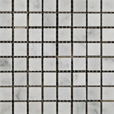 5/8 X 5/8 Carrara White Marble Polished Mosaic Tile - American Tile Depot - Commercial and Residential (Interior & Exterior), Indoor, Outdoor, Shower, Backsplash, Bathroom, Kitchen, Deck & Patio, Decorative, Floor, Wall, Ceiling, Powder Room - 2