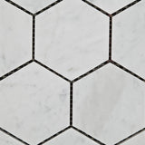 "Carrara White Marble Polished 3"" Hexagon Mosaic Tile - American Tile Depot - Commercial and Residential (Interior & Exterior), Indoor, Outdoor, Shower, Backsplash, Bathroom, Kitchen, Deck & Patio, Decorative, Floor, Wall, Ceiling, Powder Room - 2"