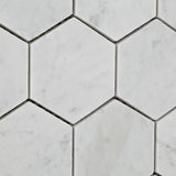 "Carrara White Marble Polished 3"" Hexagon Mosaic Tile - American Tile Depot - Commercial and Residential (Interior & Exterior), Indoor, Outdoor, Shower, Backsplash, Bathroom, Kitchen, Deck & Patio, Decorative, Floor, Wall, Ceiling, Powder Room - 3"