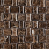 Emperador Dark Marble Polished 3D Small Bread Mosaic Tile - American Tile Depot - Commercial and Residential (Interior & Exterior), Indoor, Outdoor, Shower, Backsplash, Bathroom, Kitchen, Deck & Patio, Decorative, Floor, Wall, Ceiling, Powder Room - 3