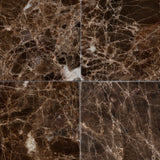 4 X 4 Emperador Dark Marble Polished Field Tile - American Tile Depot - Commercial and Residential (Interior & Exterior), Indoor, Outdoor, Shower, Backsplash, Bathroom, Kitchen, Deck & Patio, Decorative, Floor, Wall, Ceiling, Powder Room - 2