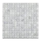 Carrara White Marble Polished 3D Small Bread Mosaic Tile - American Tile Depot - Commercial and Residential (Interior & Exterior), Indoor, Outdoor, Shower, Backsplash, Bathroom, Kitchen, Deck & Patio, Decorative, Floor, Wall, Ceiling, Powder Room - 1
