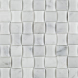Carrara White Marble Polished 3D Small Bread Mosaic Tile - American Tile Depot - Commercial and Residential (Interior & Exterior), Indoor, Outdoor, Shower, Backsplash, Bathroom, Kitchen, Deck & Patio, Decorative, Floor, Wall, Ceiling, Powder Room - 2
