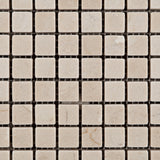 5/8 X 5/8 Crema Marfil Marble Tumbled Mosaic Tile - American Tile Depot - Commercial and Residential (Interior & Exterior), Indoor, Outdoor, Shower, Backsplash, Bathroom, Kitchen, Deck & Patio, Decorative, Floor, Wall, Ceiling, Powder Room - 2