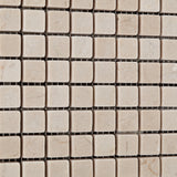 5/8 X 5/8 Crema Marfil Marble Tumbled Mosaic Tile - American Tile Depot - Commercial and Residential (Interior & Exterior), Indoor, Outdoor, Shower, Backsplash, Bathroom, Kitchen, Deck & Patio, Decorative, Floor, Wall, Ceiling, Powder Room - 3