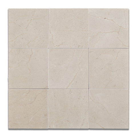 4 X 4 Crema Marfil Marble Honed Field Tile - American Tile Depot - Commercial and Residential (Interior & Exterior), Indoor, Outdoor, Shower, Backsplash, Bathroom, Kitchen, Deck & Patio, Decorative, Floor, Wall, Ceiling, Powder Room - 1