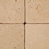 4 X 4 Ivory Travertine Tumbled Field Tile - American Tile Depot - Commercial and Residential (Interior & Exterior), Indoor, Outdoor, Shower, Backsplash, Bathroom, Kitchen, Deck & Patio, Decorative, Floor, Wall, Ceiling, Powder Room - 2