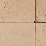 4 X 4 Ivory Travertine Tumbled Field Tile - American Tile Depot - Commercial and Residential (Interior & Exterior), Indoor, Outdoor, Shower, Backsplash, Bathroom, Kitchen, Deck & Patio, Decorative, Floor, Wall, Ceiling, Powder Room - 3