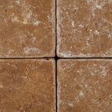 6 X 6 Noce Travertine Tumbled Field Tile - American Tile Depot - Commercial and Residential (Interior & Exterior), Indoor, Outdoor, Shower, Backsplash, Bathroom, Kitchen, Deck & Patio, Decorative, Floor, Wall, Ceiling, Powder Room - 2