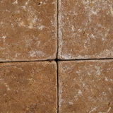 6 X 6 Noce Travertine Tumbled Field Tile - American Tile Depot - Commercial and Residential (Interior & Exterior), Indoor, Outdoor, Shower, Backsplash, Bathroom, Kitchen, Deck & Patio, Decorative, Floor, Wall, Ceiling, Powder Room - 3
