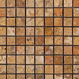 5/8 X 5/8 Scabos Travertine Tumbled Mosaic Tile - American Tile Depot - Commercial and Residential (Interior & Exterior), Indoor, Outdoor, Shower, Backsplash, Bathroom, Kitchen, Deck & Patio, Decorative, Floor, Wall, Ceiling, Powder Room - 2