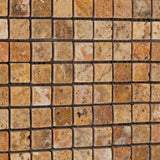 5/8 X 5/8 Scabos Travertine Tumbled Mosaic Tile - American Tile Depot - Commercial and Residential (Interior & Exterior), Indoor, Outdoor, Shower, Backsplash, Bathroom, Kitchen, Deck & Patio, Decorative, Floor, Wall, Ceiling, Powder Room - 3