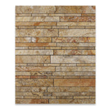 Scabos Travertine Honed Random Strip Mosaic Tile - American Tile Depot - Commercial and Residential (Interior & Exterior), Indoor, Outdoor, Shower, Backsplash, Bathroom, Kitchen, Deck & Patio, Decorative, Floor, Wall, Ceiling, Powder Room - 4